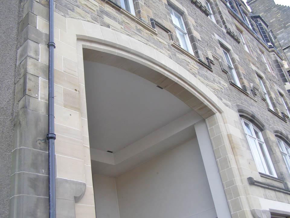 Beautiful Sandstone Arch built by an Edinburgh Stonemason